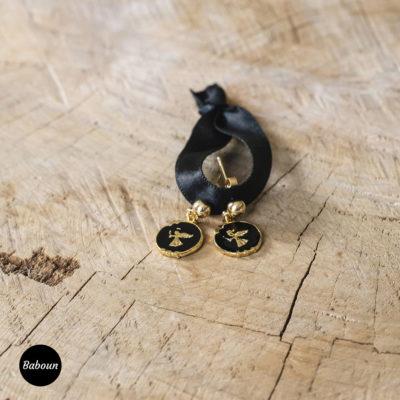 Boucles d'oreilles ange noir