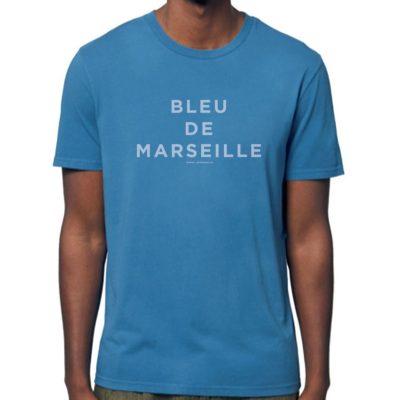 Tee-shirt manches courtes «Bleu de Marseille» – Bleu Vintage