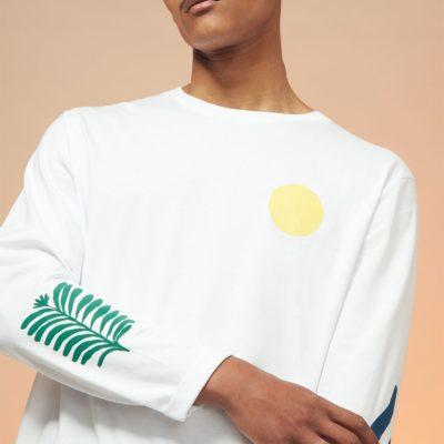 Tee-shirt manches longues collection L'idéal – Blanc