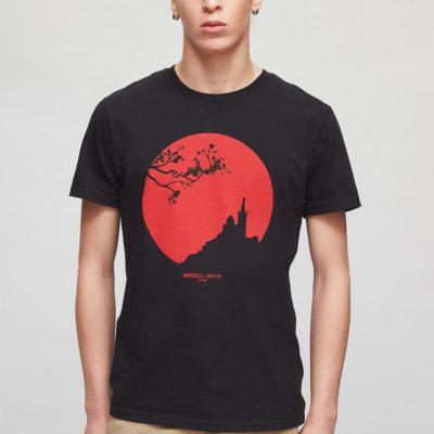 T Shirt homme Marseile Kobe – Noir