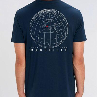 Tee-shirt homme «Globe» – Bleu Marine