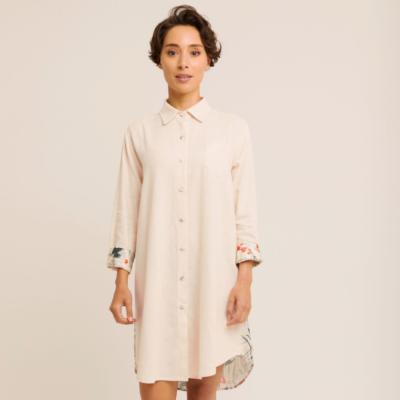 Robe tunique Femme Ecru