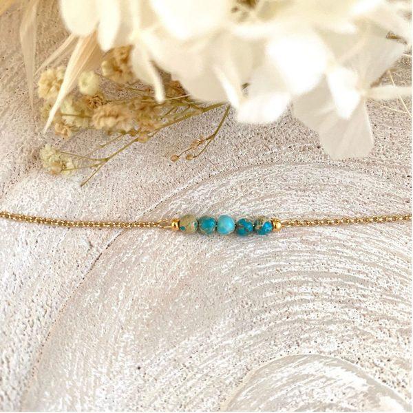 Les Bijoux de Carla – Bracelets – Bracelets avec perles naturelles – Jaspe impérial bleu