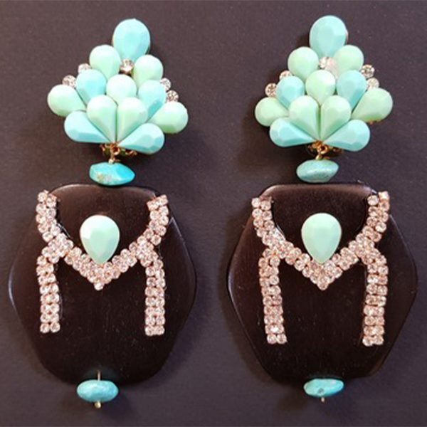 MISSBACK B.O ébène et pierres bleues