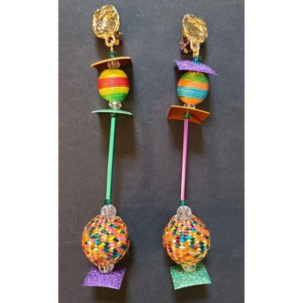 MISSBACK B.o perles multicolores