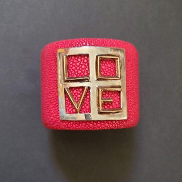 MISSBACK - Manchette pop love rouge