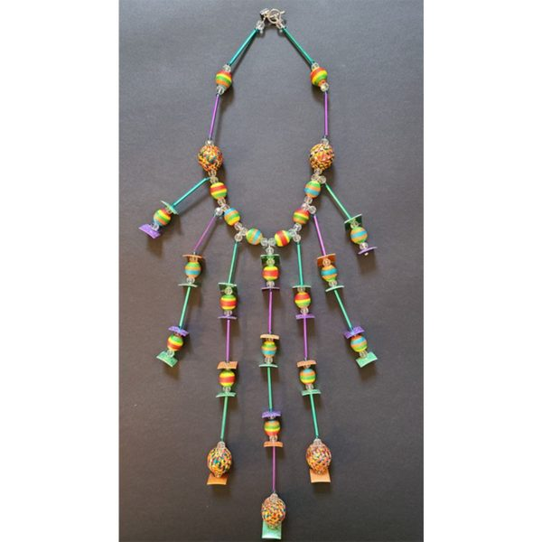 MISSBACK collier perles multicolores