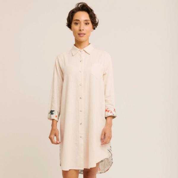 Maison Monarque robe femme Pusane blanche-